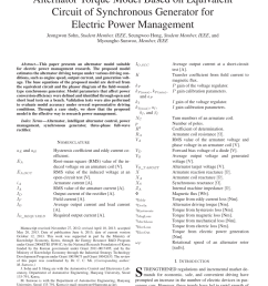 pdf alternator torque model based on equivalent circuit of synchronous generator for electric power management [ 850 x 1134 Pixel ]
