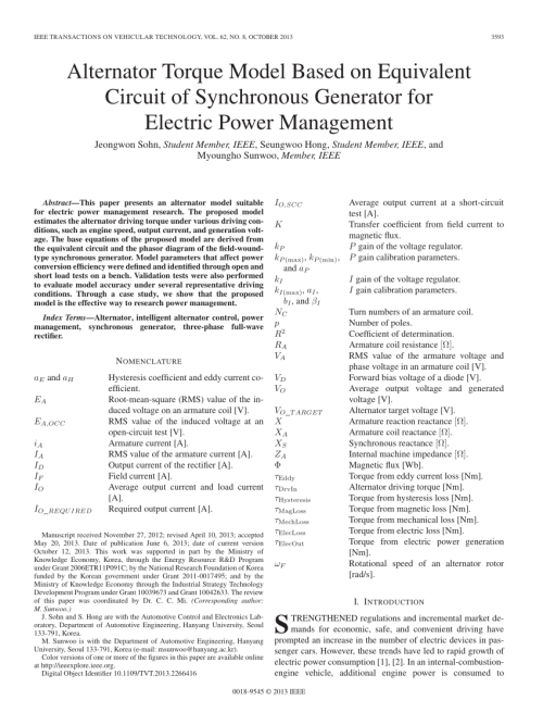 small resolution of  pdf alternator torque model based on equivalent circuit of synchronous generator for electric power management