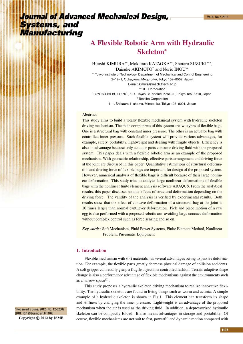 medium resolution of  pdf a flexible robotic arm with hydraulic skeleton