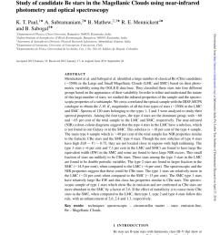 pdf candidate be stars in the magellanic clouds paul 2012  [ 850 x 1118 Pixel ]