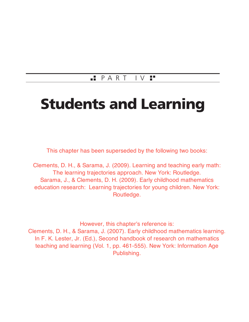 medium resolution of PDF) Early childhood mathematics learning