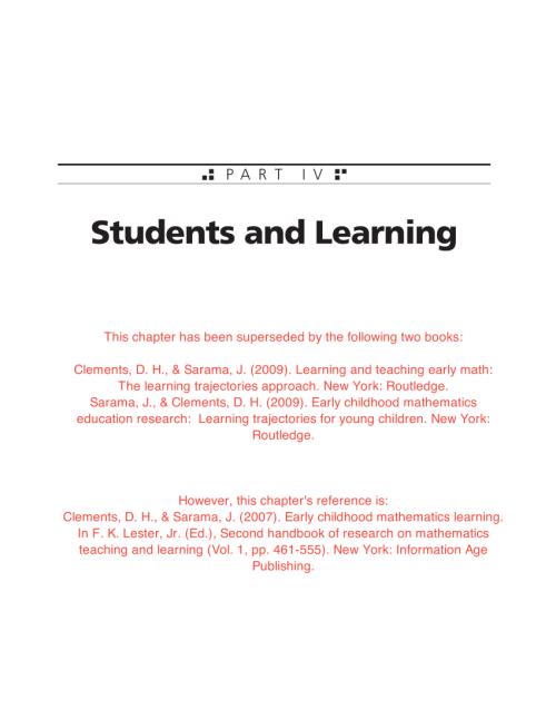small resolution of PDF) Early childhood mathematics learning