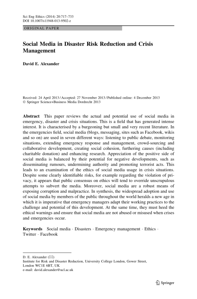A Healthy Mind In A Healthy Body Essay  Informative Synthesis Essay also How To Start A Science Essay Disaster Risk Management Essay  Applydocoumentco Business Law Essays