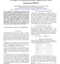 pdf design of a programmable digital iir filter based on fpga [ 850 x 1202 Pixel ]