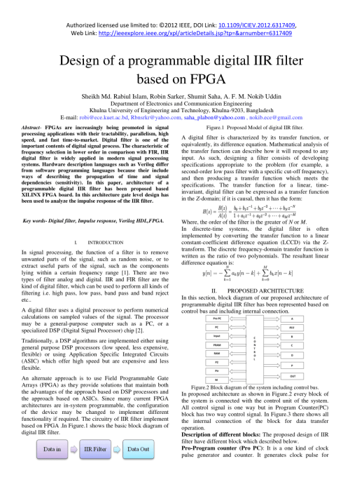 small resolution of  pdf design of a programmable digital iir filter based on fpga