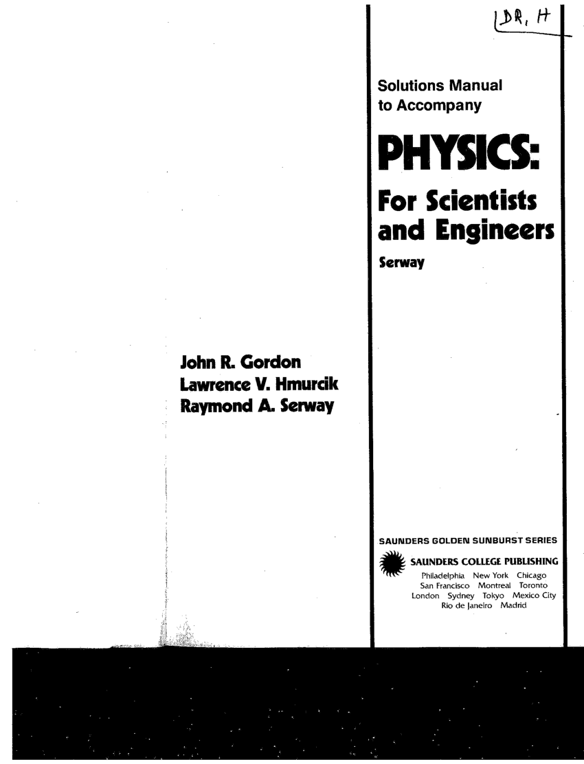 (PDF) Instructor's Manual to accompany Physics for