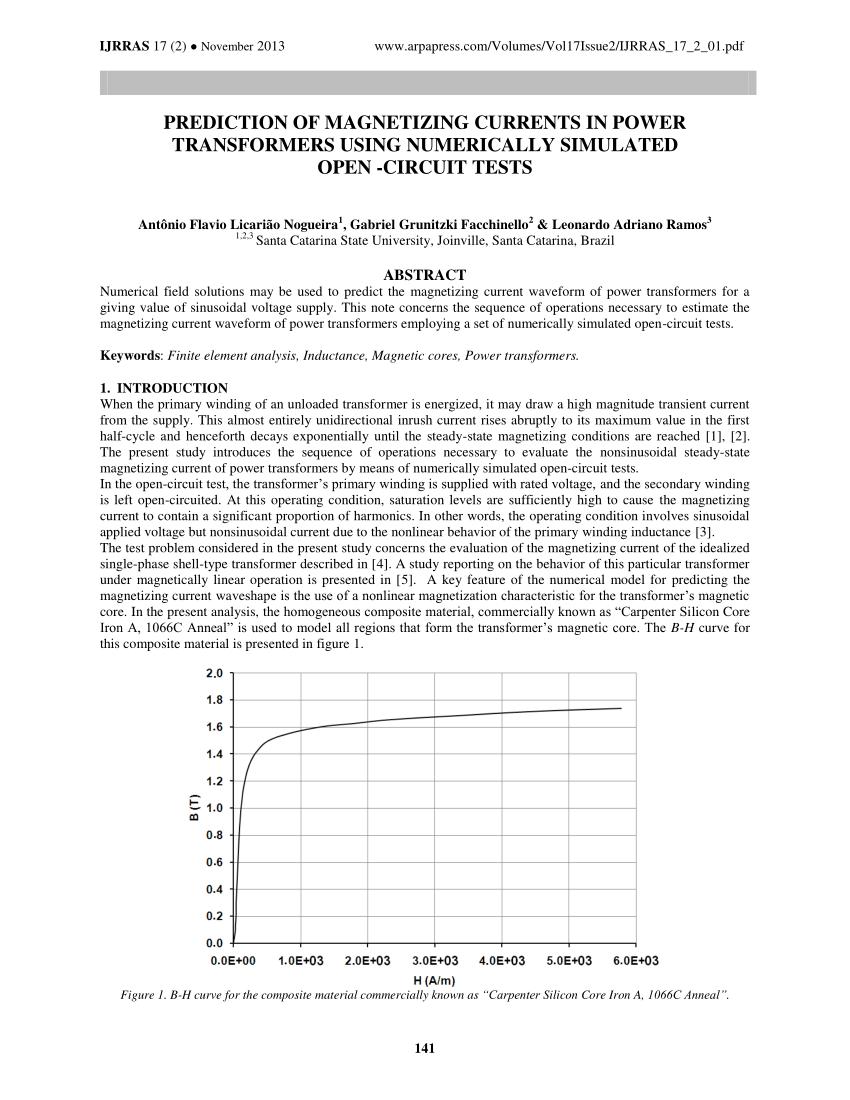 medium resolution of  pdf finite element analysis of a welding transformer