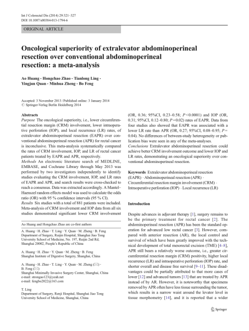 small resolution of abdominoperineal resection specimen produced using the conventional download scientific diagram