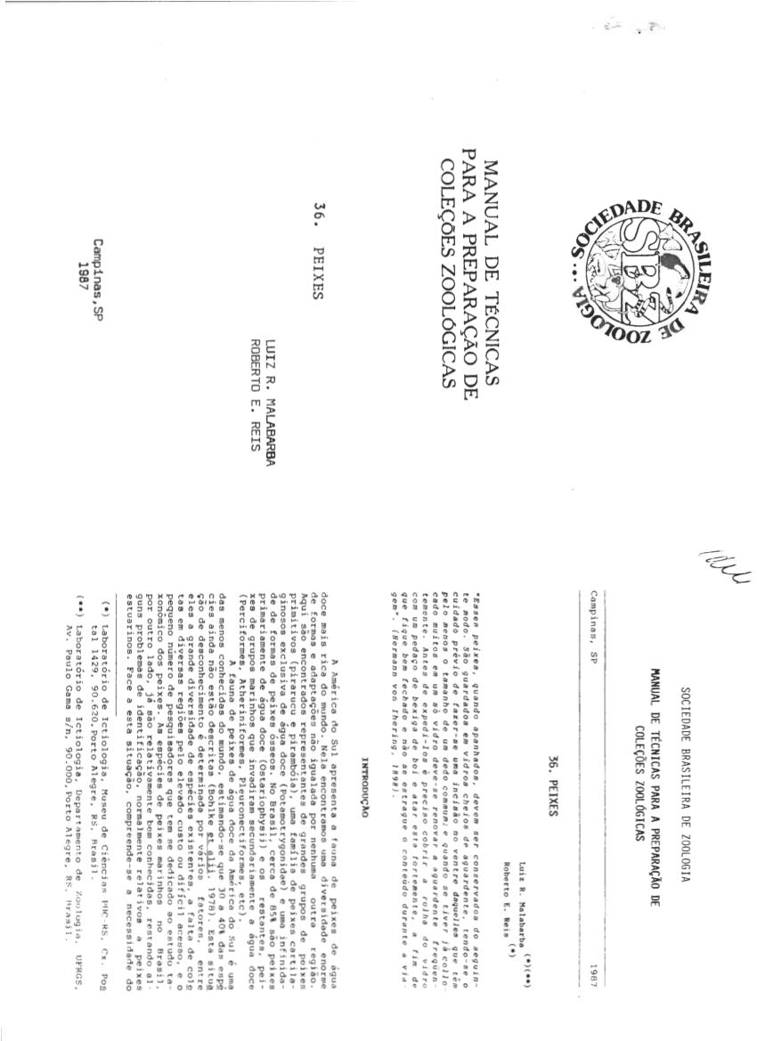 (PDF) Manual de Técnicas para a preparação de coleções
