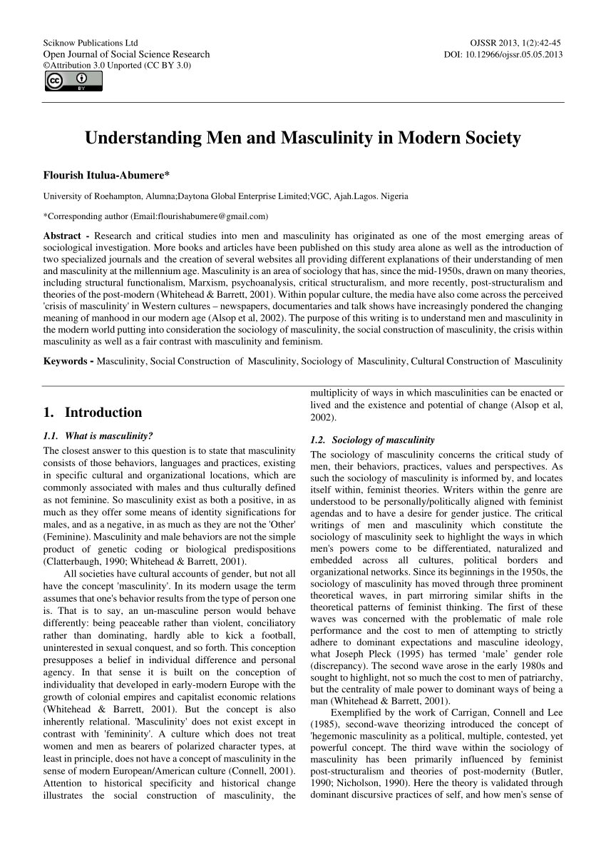PDF Understanding Men And Masculinity In Modern Society