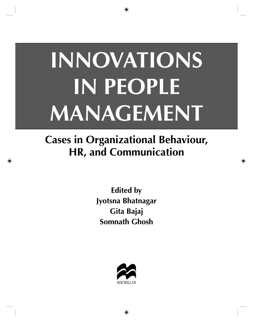 (PDF) Innovations In People Management, :Cases...