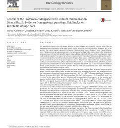 pdf genesis of the proterozoic mangabeira tin indium mineralization central brazil evidence from geology petrology fluid inclusion and stable isotope  [ 850 x 1133 Pixel ]