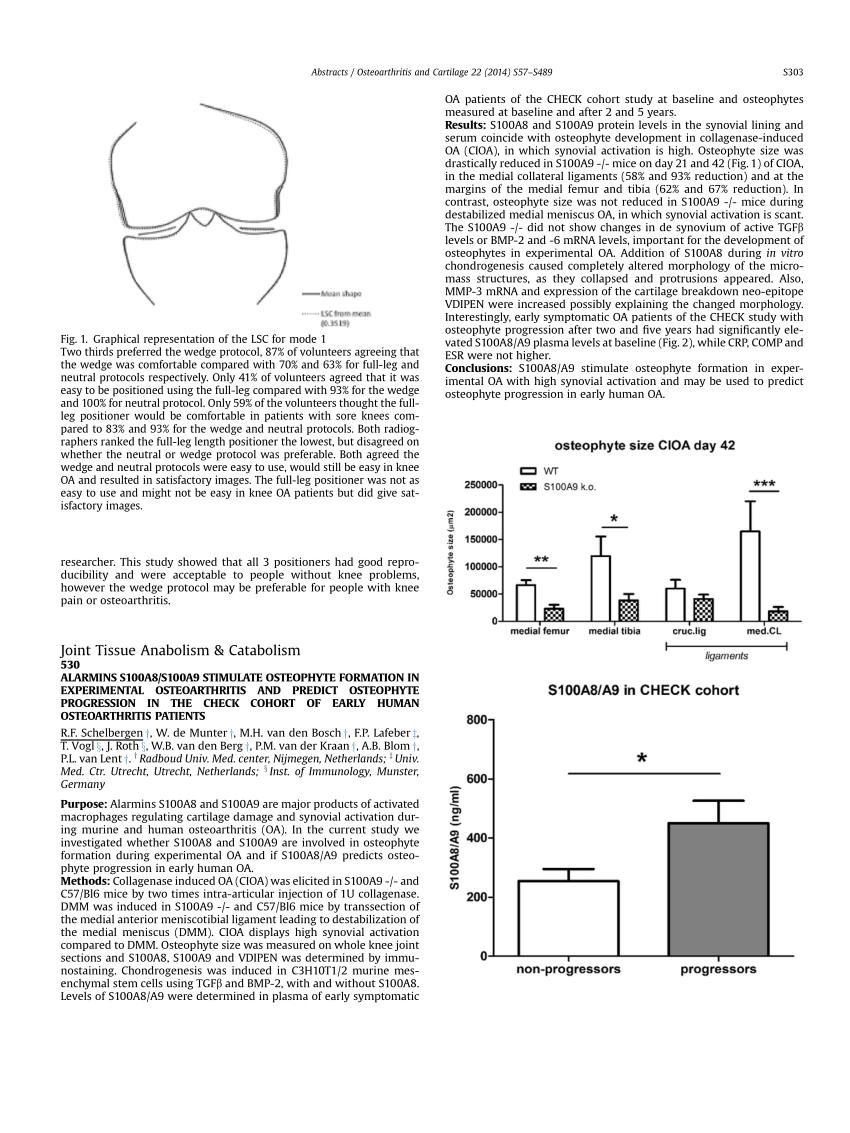 (PDF) A5.11 alarmins S100A8/S100A9 stimulate osteophyte