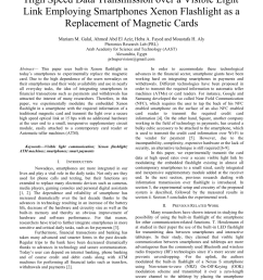 pdf high speed data transmission over a visible light link employing smartphones xenon flashlight as a replacement of magnetic cards [ 850 x 1100 Pixel ]