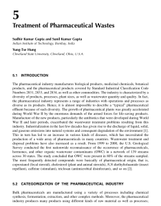 Pdf treatment of pharmaceutical wastes also rh researchgate