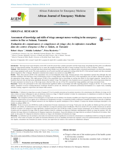 Pdf assessment of knowledge and skills triage amongst nurses working in the emergency centres dar es salaam tanzania also rh researchgate