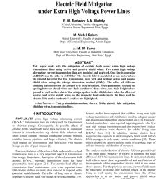 pdf electric field mitigation under extra high voltage power lines [ 850 x 1100 Pixel ]