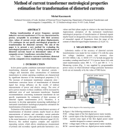 pdf method of current transformer metrological properties estimation for transformation of distorted currents [ 850 x 1100 Pixel ]