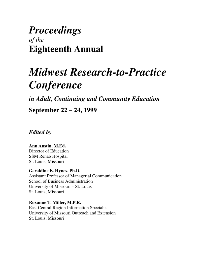 medium resolution of PDF) Midwest Research-to-Practice Conference