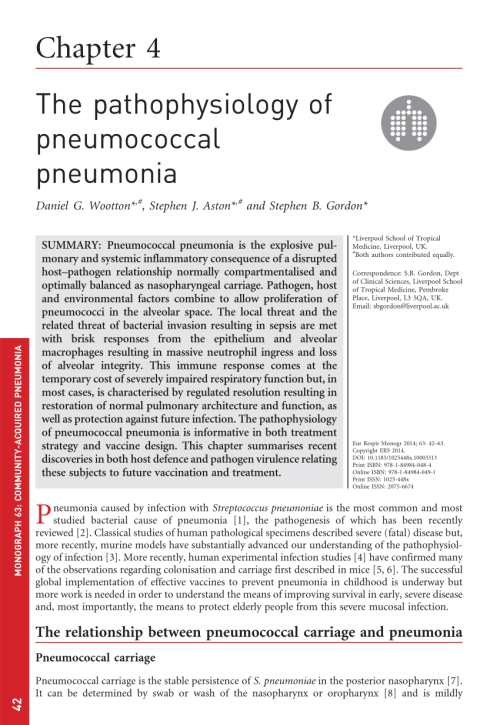 small resolution of  pdf the pathophysiology of pneumococcal pneumonia