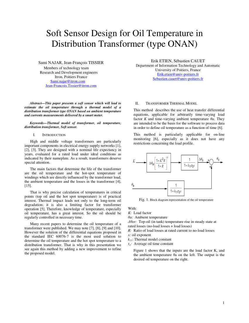 hight resolution of an improved transformer top oil temperature model for use in an online monitoring and diagnostic system