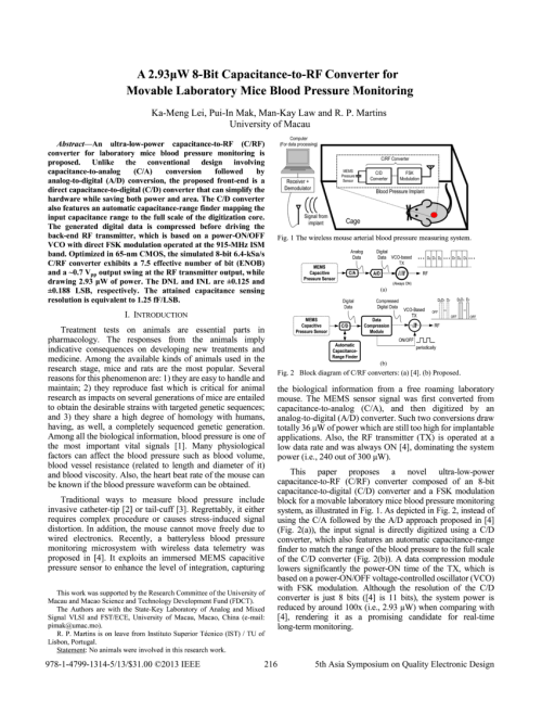 small resolution of the wireless mouse arterial blood pressure measuring system analog download scientific diagram