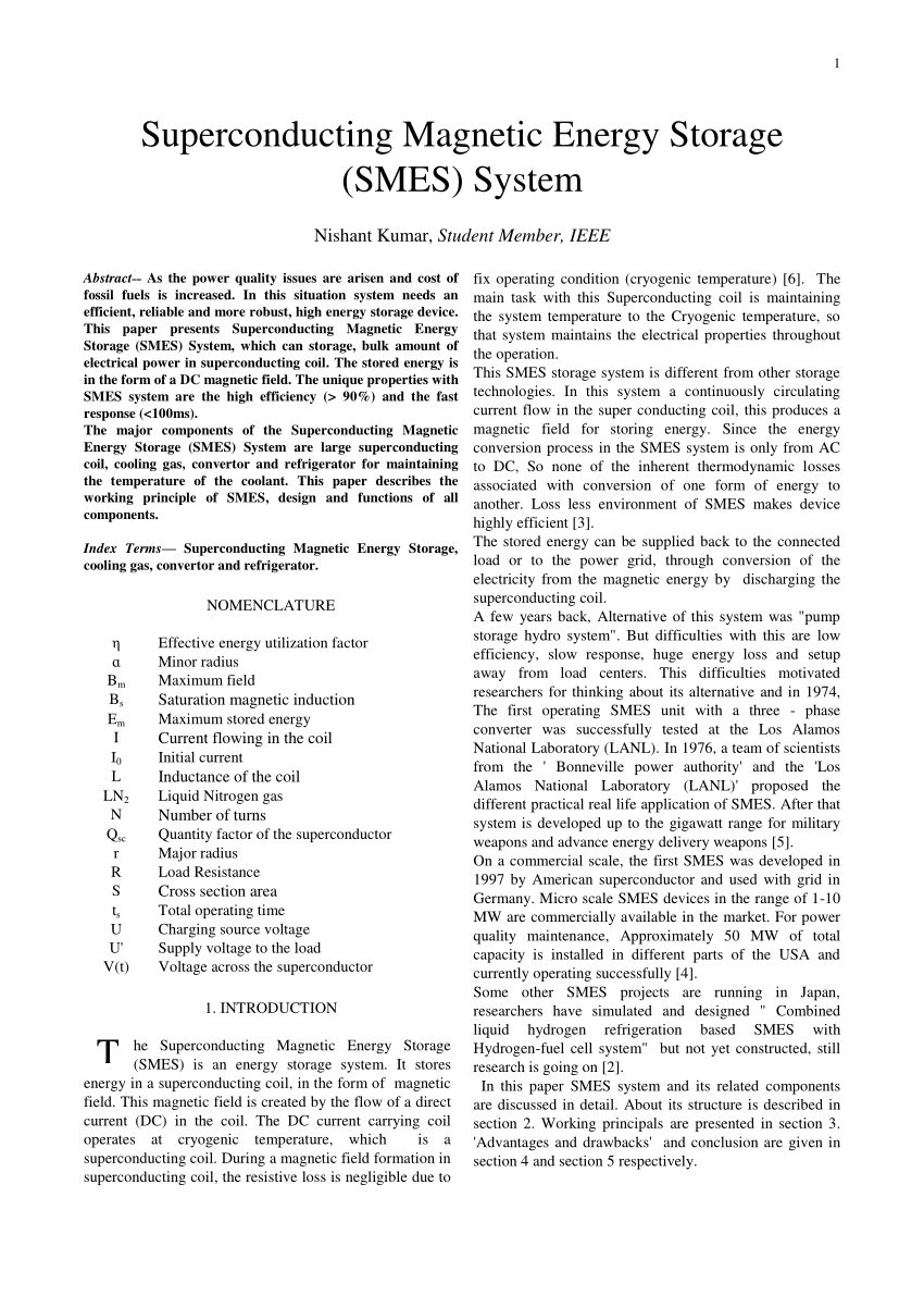 hight resolution of  pdf superconducting magnetic energy storage smes system