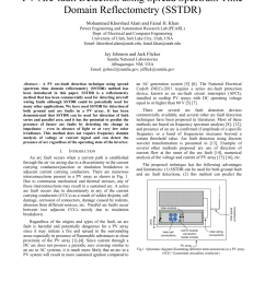 pdf pv arc fault detection using spread spectrum time domain reflectometry sstdr  [ 850 x 1100 Pixel ]