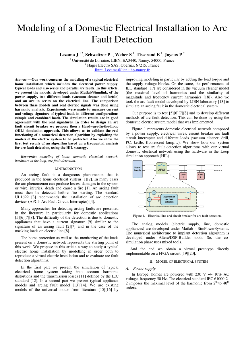 medium resolution of  pdf arc fault model of conductance application to the ul1699 tests modeling