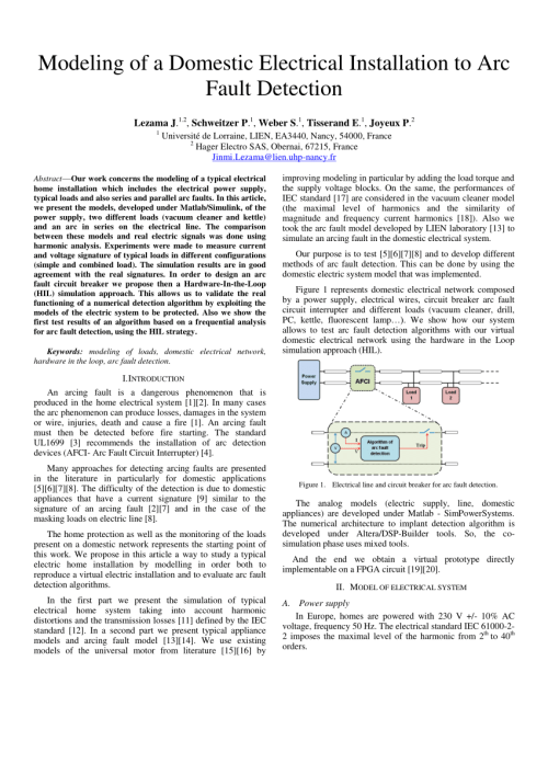 small resolution of  pdf arc fault model of conductance application to the ul1699 tests modeling