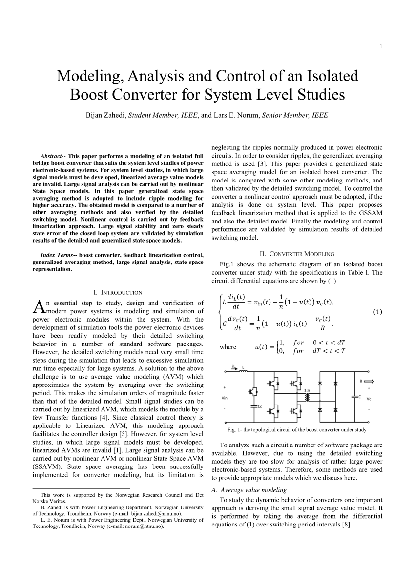 medium resolution of the topological circuit of the boost converter under study download scientific diagram
