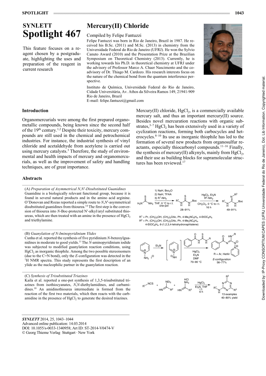 (PDF) Mercury(II) chloride