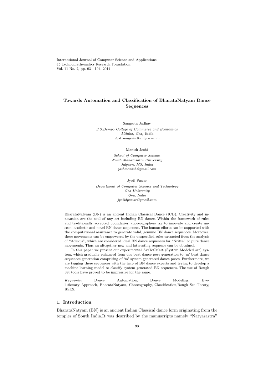 (PDF) Towards Automation and Classification of