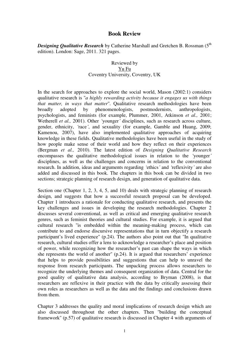 PDF Designing Qualitative Research