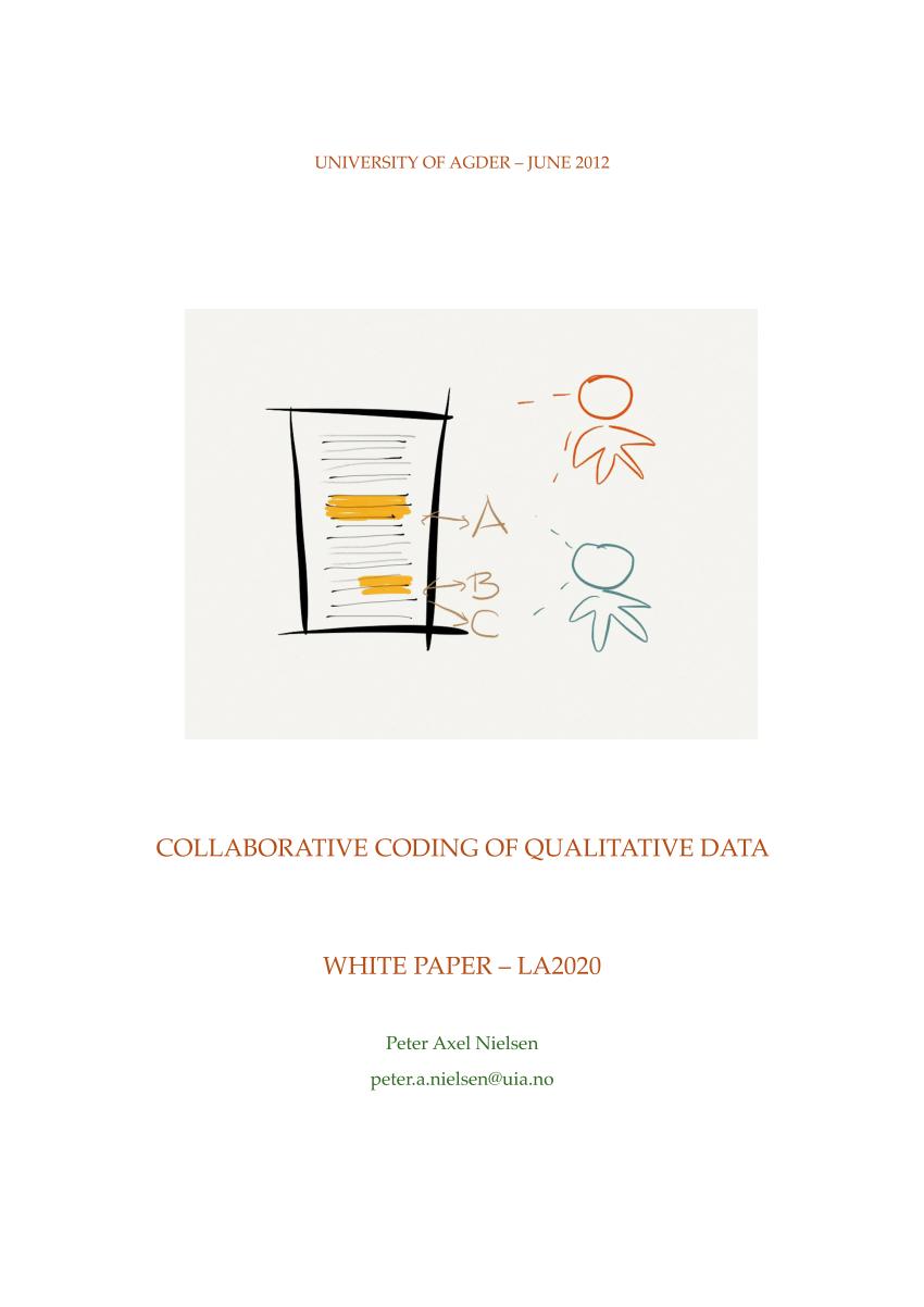 (PDF) Collaborative Coding of Qualitative Data (White paper)