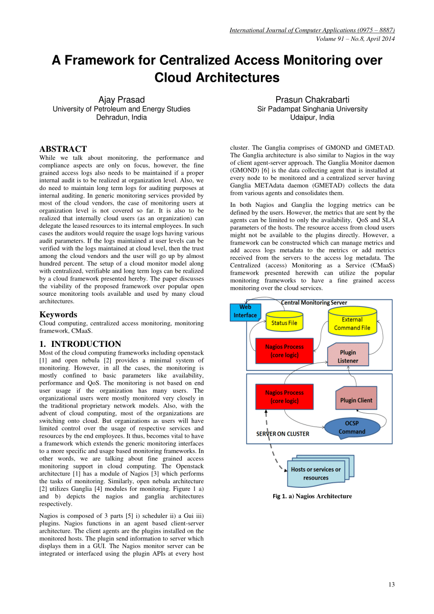 medium resolution of  pdf a framework for centralized access monitoring over cloud architectures