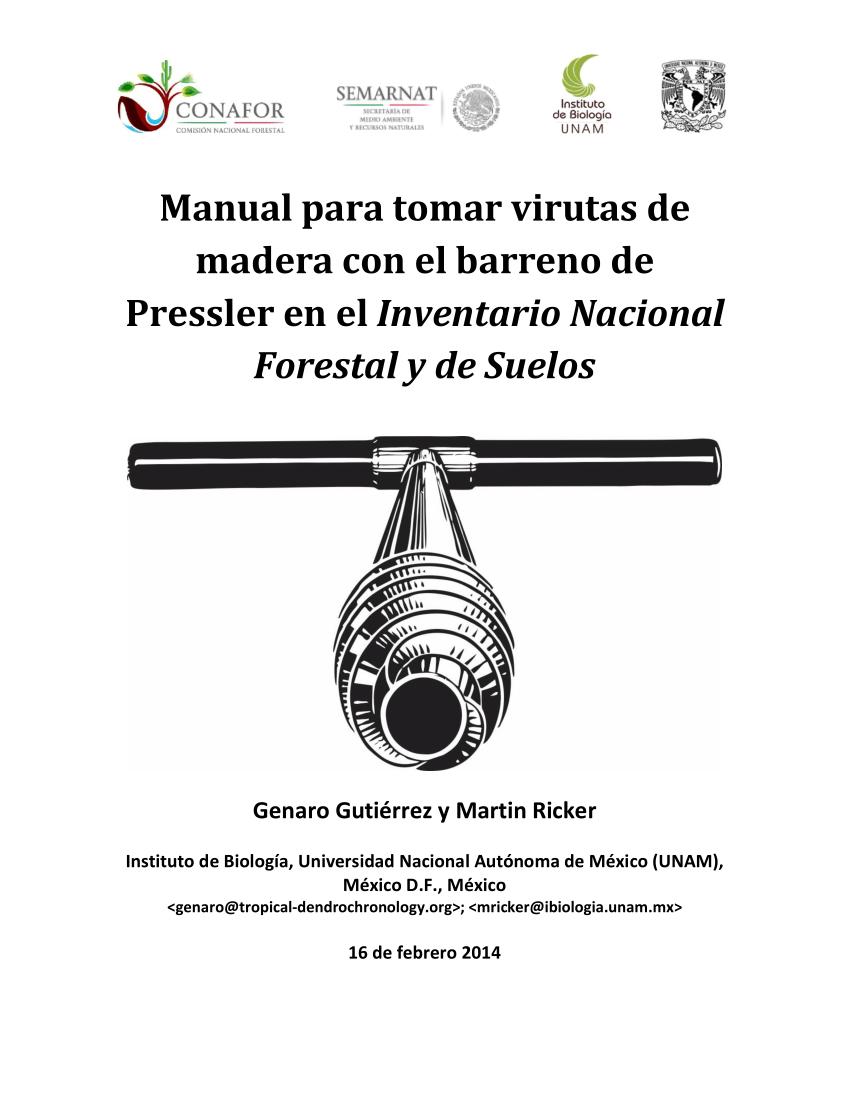 (PDF) Manual para tomar virutas de madera con el barreno