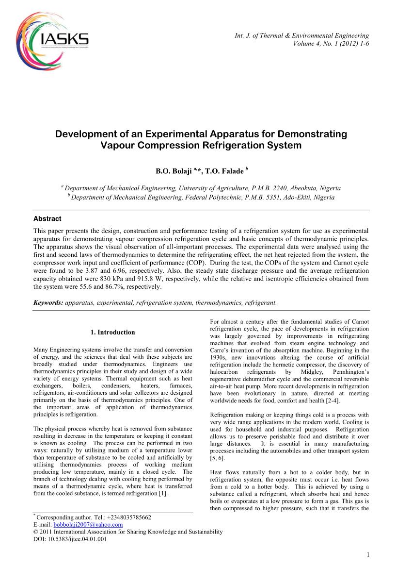 medium resolution of the actual vapor compression refrigeration cycle download scientific diagram