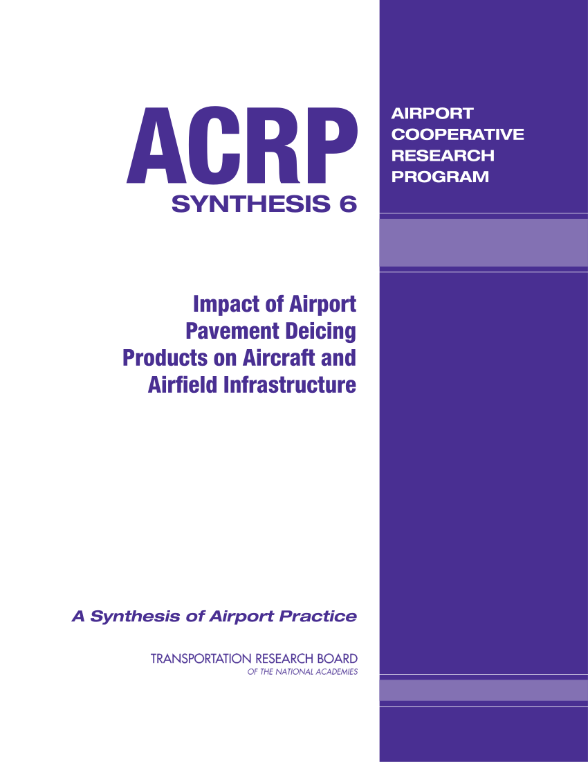 hight resolution of  pdf impact of airport pavement deicing products on aircraft and airfield infrastructure