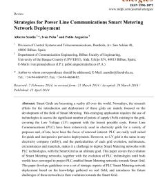 pdf strategies for power line communications smart metering network deployment [ 850 x 1203 Pixel ]