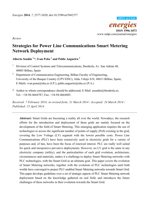 small resolution of  pdf strategies for power line communications smart metering network deployment