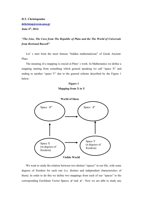 small resolution of  pdf the line the cave from the republic of plato and the the world of universals from bertrand russell
