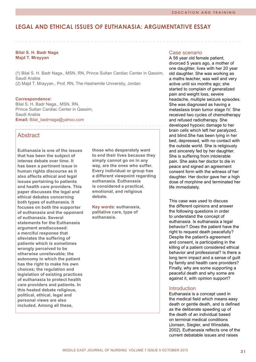 Pro Euthanasia Essay Facts Pro Euthanasia Essay Lab Report Writing