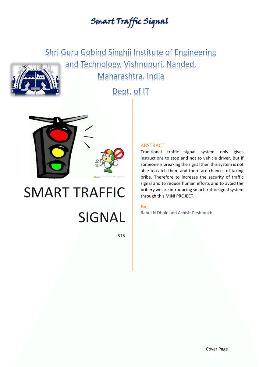 medium resolution of  pdf smart traffic signal