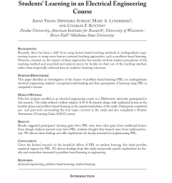 pdf problem based learning influence on students learning in an electrical engineering course [ 850 x 1275 Pixel ]