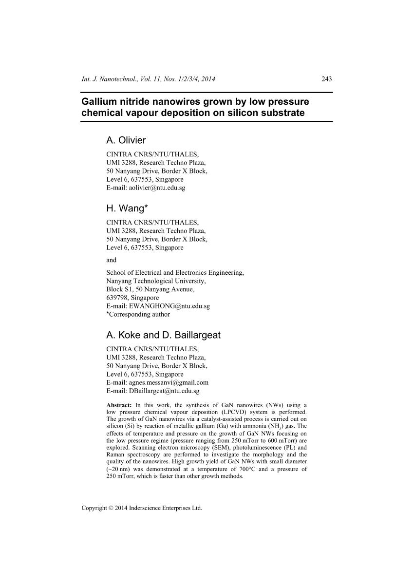 medium resolution of  pdf gallium hydride vapor phase epitaxy of gan nanowires