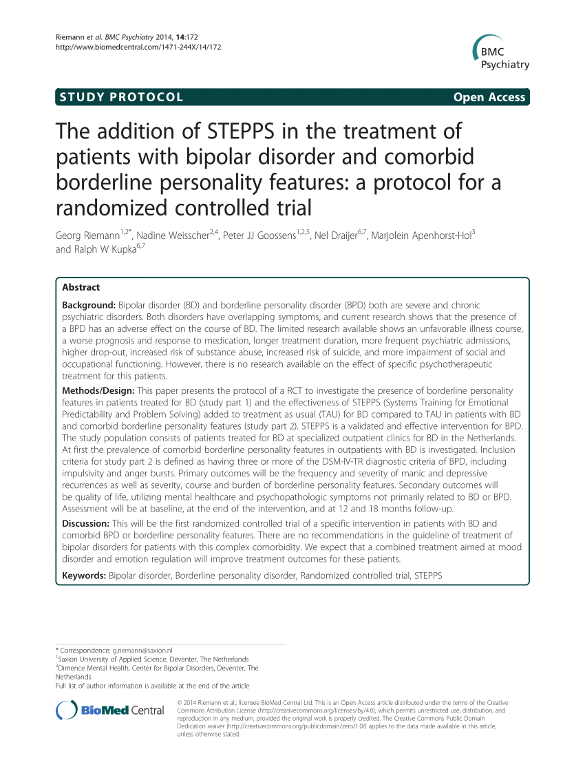 PDF The Addition Of STEPPS In The Treatment Of Patients With