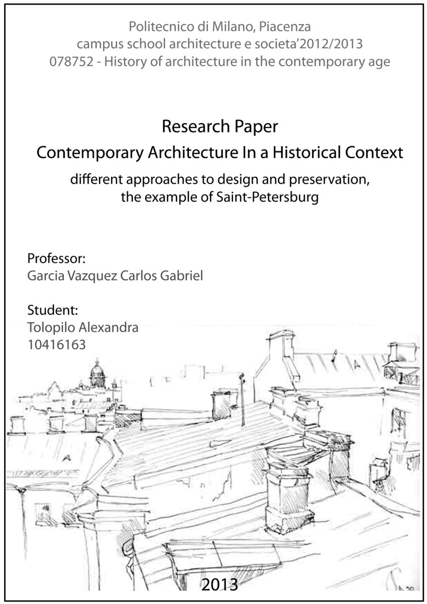 PDF Contemporary Architecture In A Historical Context