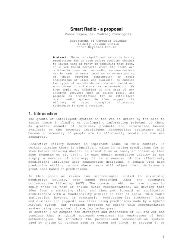 PDF) Smart Radio - a proposal