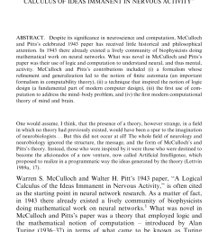 pdf the first computational theory of mind and brain a close look at mcculloch and pitts s logical calculus of ideas immanent in nervous activity  [ 850 x 1404 Pixel ]